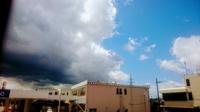 青空と黒い雲