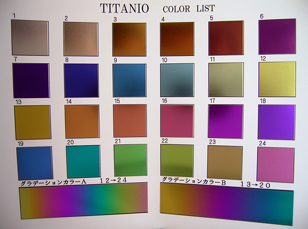 TITANIO COLOR LIST