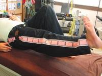 加圧リハビリ 膝関節捻挫