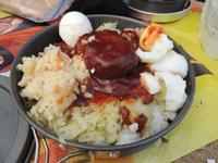 山めし:ロコモコ丼~手間なし・簡単・おいしい山めしレシピ