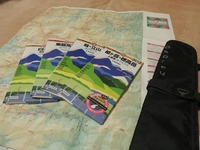 地図「昭文社 山と高原地図」・マップケース「オスプレー マップラップ」・コンパス「スント A-10」:愛用の山道具