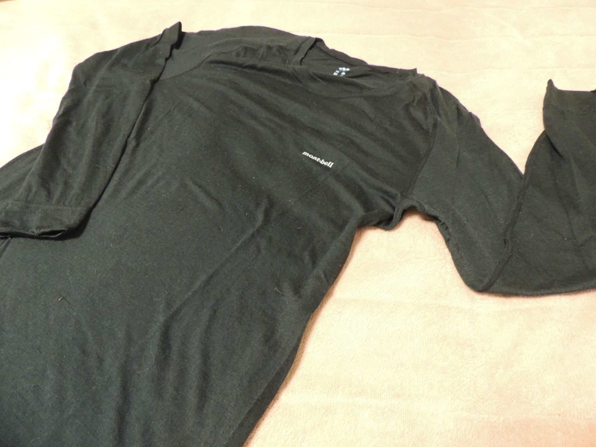 モンベル(mont-bell)スーパーメリノウール L.W.ラウンドネックシャツ