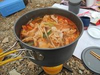 山めし:キムチ鍋~手間なし・簡単・おいしい山めしレシピ
