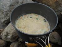 山めし:鶏団子ラーメン~手間なし・簡単・おいしい山めしレシピ